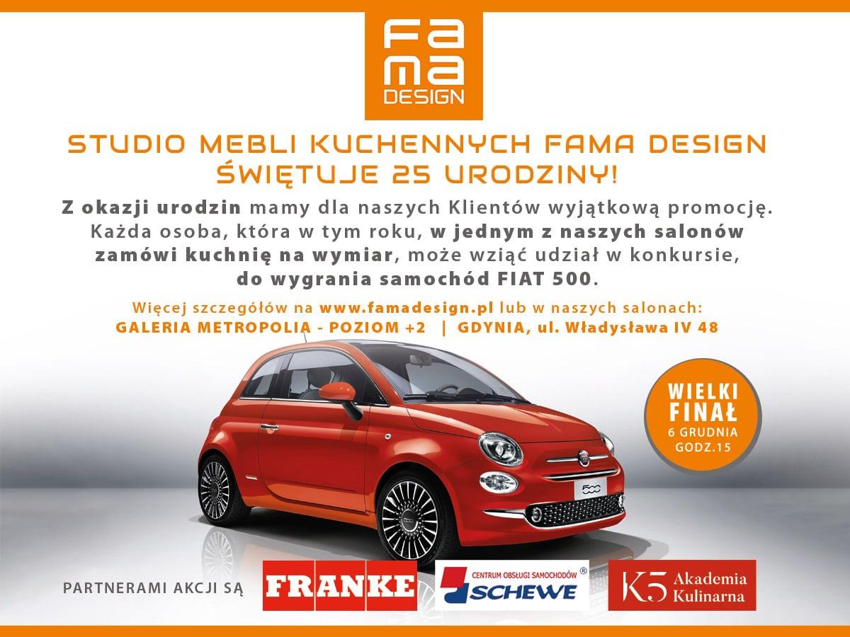 Zamów Kuchnię I Wygraj Samochód Fiat 500 Kuchnie Meble